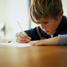boy writing